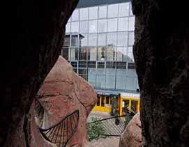09.02.03. Holstebro, Restaurant under Klippen. Billeder til restaurant anmeldelse. Foto. Ole Mortensen/Tilsted.Com