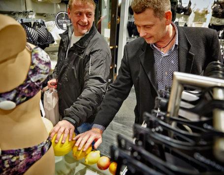 Mandeaften hos Lingeri butikken Wunderwear i Holstebro.