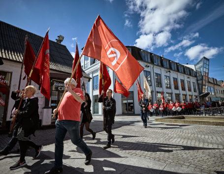 1. Maj arrengement i Holstebro med start fra Nørreport og tale arrengement i Lystanlægget